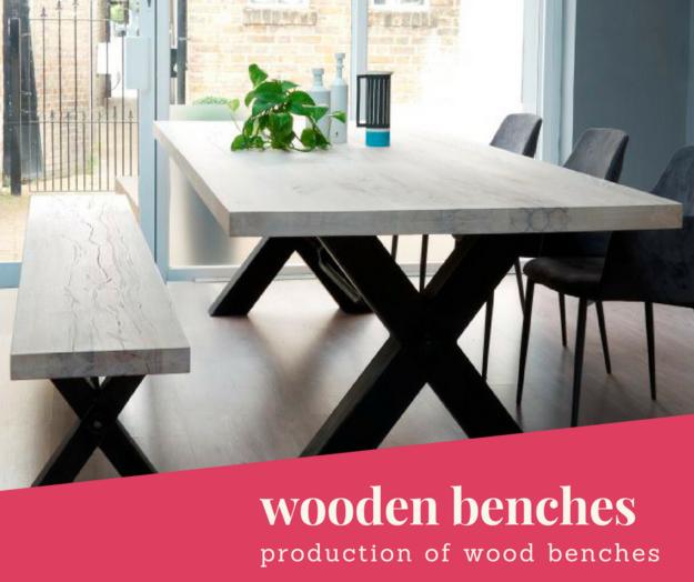 Stół do jadalni z drewnianą ławką