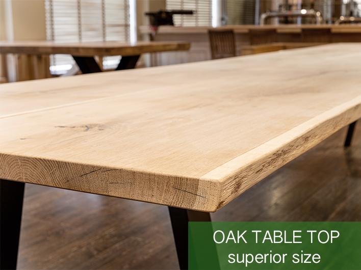 stół dębowy o podwyższonym rozmiarze