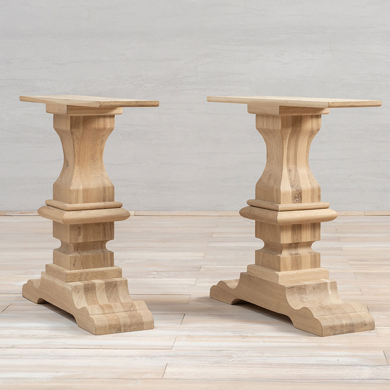 unfinished monastery dining table legs